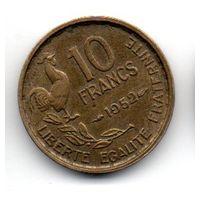 Франция 10 франков 1952 петух