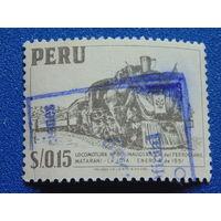 Перу 1952 г. Паровоз.