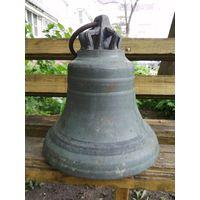 Колокол церковный 19 век. бронза. Большой 30 на 26 см. Трещин нет, звон отличный