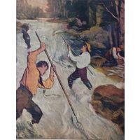 Багрение лососи въ Канаде на реке Фрэзеръ и ея притокахъ. 1909г. 25х19 см.