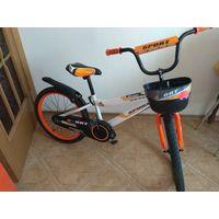 Велосипед 20 дюймов, 2 доп.колеса