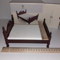 Кровать пластмасса с матрасом (кукольный дом в викторианском стиле, Дом мечты ДеАгостини DeAgostini, миниатюра 1:12)