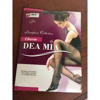 Колготы Dea  MiA с красивым узором новые 3 размер 40 ден