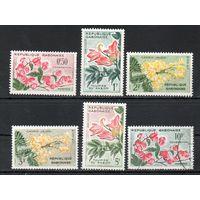Цветы Габон 1961 год серия из 6 марок