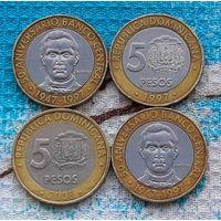 Доминиканская Республика 5 песо. Инвестируй выгодно в монеты планеты!
