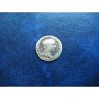 Динарий . Император ТРАЯН 98 - 117 г.  н.э.