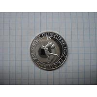 """Югославия 100 динаров 1983 """"Фигурное катание"""" Proof, серебро"""