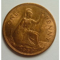 Британия. один пенни 1967г.