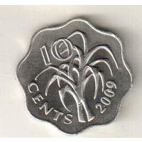 Эсватини (Свазиленд) 10 цент 2009