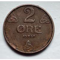 Норвегия 2 эре, 1937 4-4-40