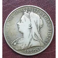 Великобритания 1 крона 1900г. Последняя крона Виктории.