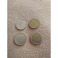 Колумбия набор 4 монеты