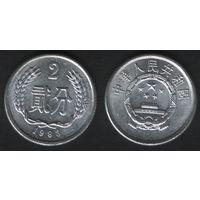Китай (КНР) ___km2 2 фэнь 1983 год (h01)