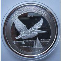 Сент Китс и Невис, 2 доллара, 2018, серебро (Вторая монета серии 'EC8')