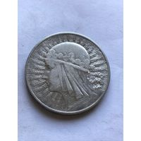 10 злотых 1932  без знака мд - c  1 рубля