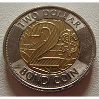 Зимбабве. 2 доллара 2018 год  UC#1