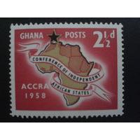 Гана 1958 конференция африканских стран в Аккре