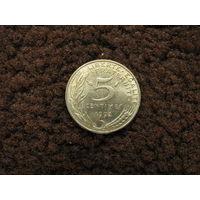 Франция 5 сантимов 1992 (1)