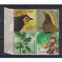 Индонезия Птицы флора 2006 год чистый квартблок