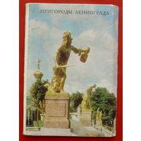 Пригороды Ленинграда. Комплект-раскладушка из 10 открыток 7х10,5 см. 1975 года. 50.