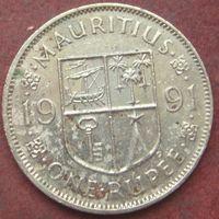 6525:  1 рупия 1991 Маврикий