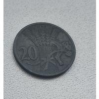 Богемия и Моравия 20 геллеров, 1941  8-11-38