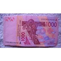 Западная Африка, Франция, Мали 1000 франков 2003г.  распродажа