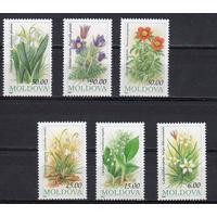 Молдавия 1993 81-86 Цветы Флора MNH Молдова