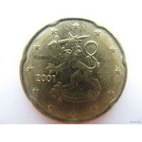 Финляндия 20 евроцентов 2001г.