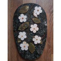 Настенное панно из камня. Уральские самоцветы.