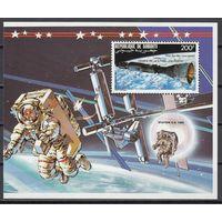 Космос. Джибути. 1992г. Блок
