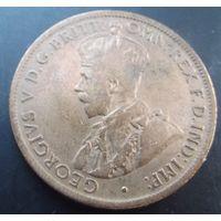 Австралия. 1\2 пенни 1921