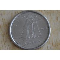Канада 10 центов 2007