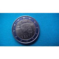 Эстония 2 евро 2011г.   распродажа