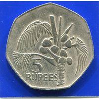 Сейшельские острова , Сейшелы 5 рупий 1977 , большая