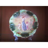 Тарелка Коллекционная настенная,редкость, 1870, клеймо