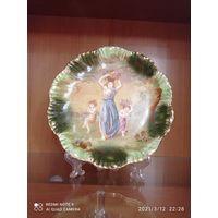 Тарелка Антикварная  настенная,редкость, 1870, клеймо