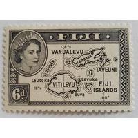 Фиджи, английская колония, карта, история. распродажа
