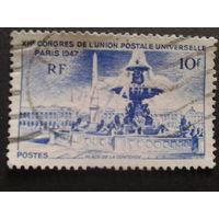 Франция 1947 фонтан