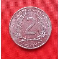 58-39 Восточные Карибы, 2 цента 2011 г.