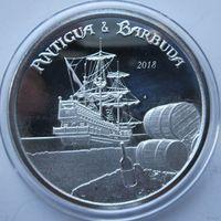 Антигуа и Барбуда, 2 доллара, 2018, серебро (Первая монета серии 'EC8')