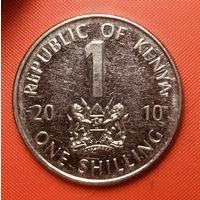 32-03 Кения, 1 шиллинг 2010 г.