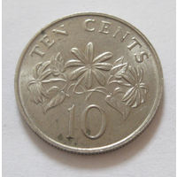 Сингапур 10 центов 1988