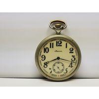 Часы Молния мельхиор.Гравированный механизм.Старт с руюля.