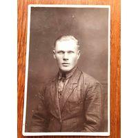 Фото портрет Пинск, печать ателье, до 1939