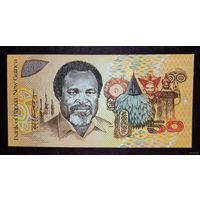 """РАСПРОДАЖА С 1 РУБЛЯ!!! Папуа-Новая Гвинея 50 кин 1989 год UNC """"Нечастая"""""""