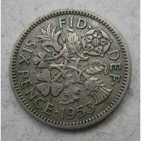 Великобритания. 6 пенсов 1953   .6 А-182