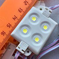 БЕЛЫЕ ((цена за 3 шт)) 0,96 Вт светодиодные модули. 4 светодиода 5050. 12 Вольт. Аналог светодиодной ленты