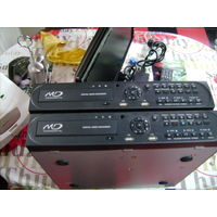 Видеорегистратор видеонаблюдения на 8 камер+монитор+пульт+2 камеры.