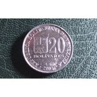20 боливаров 2002. Венесуэла.